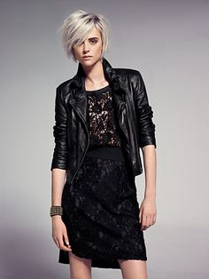 MANGO - CLOTHING - Jackets - Leather biker jacket. I also loved this one but it was a bit too cropped for me.