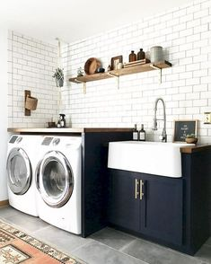 Do you want to create the best nice modern farmhouse laundry room ideas in your home? Charming and stylish laundry is indeed a choice and dreams for everyone. Then, how to create a good farmhouse laundry room design? Here is… Continue Reading → Laundry Room Tile, Tiny Laundry Rooms, Laundry Room Layouts, Laundry Room Remodel, Farmhouse Laundry Room, Laundry Room Organization, Laundry Room Design, Basement Laundry, Room Tiles Design