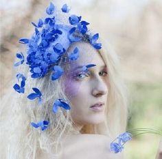 blue fascinator #wedding #fascinators #inspiration