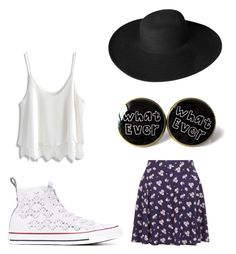 """Без названия #5"" by venagallagher on Polyvore featuring мода, New Look, Converse, Chicwish и Dorfman Pacific"