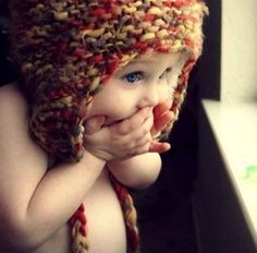 Fuente: http://havesomepudding.tumblr.com/post/12810564574/baby-crochet-hat