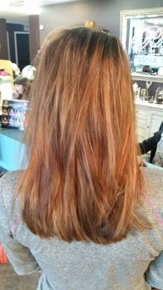 Balayage highlights and cut by Lauren Brown.