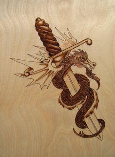 dragon on dagger
