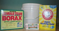 DIY Laundry Soap-some kind of bucket to mix all your ingredients in. I used a 2 gallon paint bucket. bar of Fels Naptha Laundry Soap (you can also use Zote, Octagon, or Ivory--amounts may vary) cup Borax cup Arm & Hammer Super Washing Soda All You Need Is, Just In Case, Homemade Cleaning Products, Natural Cleaning Products, Diy Cleaners, Cleaners Homemade, Lava, Limpieza Natural, Homemade Laundry Detergent