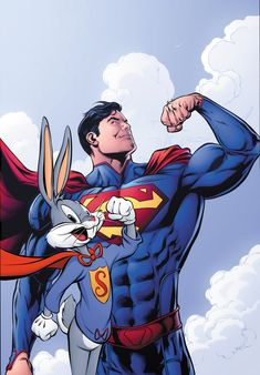 Action Comics #46 by Neil Edwards Looney Tunes Bugs Bunny Superman