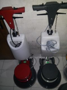 Jual Mesin Poles/Polisher Lantai Cina New  Power : 1100 W Diameter : 17″ Speed : 154 Rpm Weight : 50 Kg Cable : 12 M Including : hard brush,soft brush,pad holder,water tank  BARU / second Garansi 1 tahun