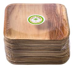 """Amazon.com: Pure Palm Planet Friendly Plates; Upscale Disposable Dinnerware; All-Natural Eco-Friendly Compostable Plateware (7"""" Square) (25 pack): Kitchen & Dining"""