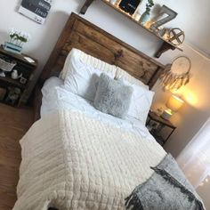 Teenage Girl Farmhouse Bedroom Makeover Mobile Home Doublewide, Farmhouse Table Lamps, Waterproof Laminate Flooring, Ship Lap Walls, Brick Fireplace, Grey Paint, Country Decor, Bedroom Decor, Mobile Homes