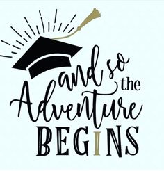 And so the Adventure Begins 2018 Graduation SVG cut file. Create something special for your graduate with this 2018 Graduation SVG file. Senior Shirts, Graduation Shirts, Kindergarten Graduation, Graduation Party Decor, Graduation Cards, Grad Parties, Graduation Sayings, Graduation Ideas, Graduation Cookies