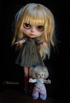 OOAK Art doll Blythe Doll... Little Zombie Girl by Melacacia