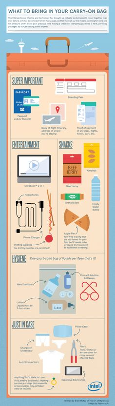 What to Bring in Your Carry-On Bag #Infographic