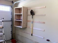 Chad's Workshop: French cleat garage storage. A fantastically flexible setup for the likelihood that the needs of the space will change over time.