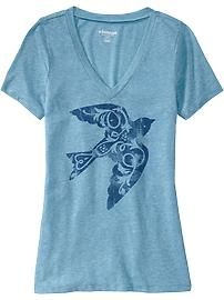 Vintage Graphic Tees for Women | Women's Vintage Graphic V-Neck Tees