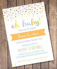 Custom Sprinkle Baby Shower Invitation by LookandSeaCreative, $10.00