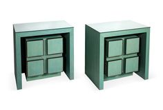 Kelly Wearstler: Beverly Hills - Turquoise Side Tables, Pair