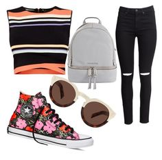 """ONE DIRECTION"" by cosmina-styles-alina on Polyvore featuring Ted Baker, H&M, Converse, Illesteva and MICHAEL Michael Kors"