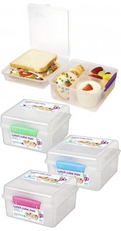 Sistema Klip It Containers - BPA Free, Lightweight Containers from New Zealand Cute Lunch Boxes, Lunch Box Notes, Bento Box Lunch, Picnic Lunches, Box Lunches, School Lunches, Lunch Box Recipes, Lunch Ideas, Sistema Containers