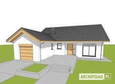 Eris II (wersja C) - projekt domu - Archipelag Bungalow House Plans, Bungalow House Design, Modern House Design, Little Houses, Minimalist Home, Home Fashion, Villa, Floor Plans, Outdoor Structures
