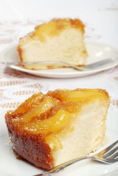 Peach Upside-Down Cake.  This is Alton Brown's recipe from his Good Eats: The Middle Years Cook Book- yum!