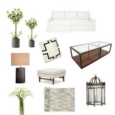 Wicked White: Moodboards: Living Room   nousDECOR.com