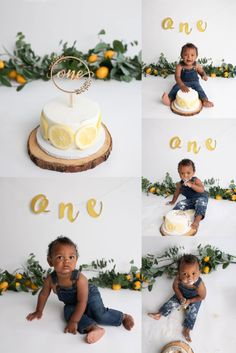Lemon Theme Cake Smash in Los-Angeles Baby Birthday Pictures, 1st Birthday Boy Themes, Boys First Birthday Party Ideas, Baby Boy First Birthday, Half Birthday, First Birthday Photos, Baby Cake Smash, Baby Boy Cakes, Cake Smash Photography