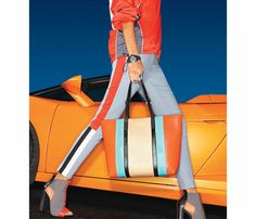 Spring's Hottest Accessories Trend: Racing Stripes: Fashion: Self.com : Sporty stripes bring a new, bold energy to any outfit in your closet. #SELFmagazine