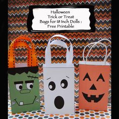 Dream. Dress. Play.: Halloween Trick or Treat Bags for 18 Inch Dolls: FREE Printable