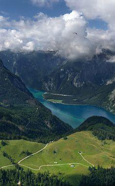 Blick auf den Königssee in Bavaria, Germany