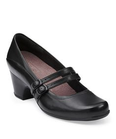 Take a look at the Black Sugar Dust Leather Mary Jane Pump on #zulily today!
