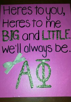 Crafting for my future little! #alphaphi #sorority #biglittle