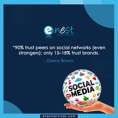 Social media statistics from 2019 show that there are 3.2 billion social media users worldwide, and this number is only growing. That equates to about 42% of the current population (Emarsys, 2019).     Know more about the social media facts  Contact us today: 📧 enestservice@gmail.com 📱 +91-82873 35066 #enest #enestservices #socialmedia #facts #quotationoftheday #SMO #socialmediamarketing #digitalfacts
