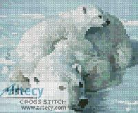 Mini Polar Bear and Cub Cross Stitch Pattern http://www.artecyshop.com/index.php?main_page=product_info&cPath=11_12&products_id=590