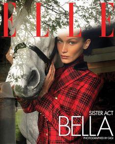 Bella Hadid, Gigi Hadid, Elle Magazine, Magazine Covers, Alex White, Anwar Hadid, Sister Act, Elle Us, Vogue Spain