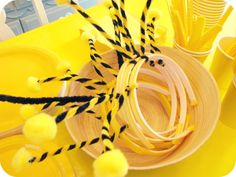 Bumble Bee Party Favors   The goodie bags were Finny's idea as well. He thought a bag full of ...