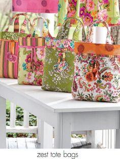Zest Tote Bags Pattern
