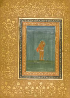 A holy man standing and scratching his head...1620..Mughal india