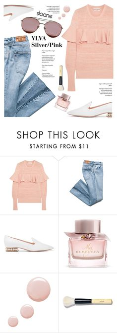 """Sloane Eyewear"" by yexyka ❤ liked on Polyvore featuring Apiece Apart, Nicholas Kirkwood, Burberry, Topshop, Bobbi Brown Cosmetics, sunglasses and sloaneeyewear"
