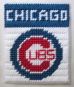 Chicago Cubs tissue box cover in plastic canvas PATTERN ONLY by AuntCC for $2.50