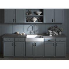 "Whitehaven Self-Trimming 35-11/16"" X 21-9/16"" X 9-5/8"" Under-Mount Single-Bowl Kitchen Sink with Tall Apron | Wayfair $900"