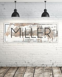 Modern Last Name Sign - Personalized Family Name Wall Art wall decor ideas Customized Name Sign Large Canvas Art - Personalized Wall Signs My Name Sign Family Wall Decor, Room Wall Decor, Outside Wall Decor, Family Room, Bedroom Decor, Canvas Wall Decor, Canvas Artwork, Model Architecture, Chimney Decor