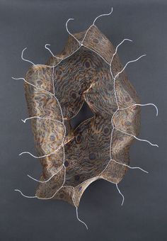 Lanny Bergner is a fulltime studio artist who has been working with mesh since He received an MFA in sculpture from Tyler School of Art, Philadelphia, PA. Abstract Sculpture, Lion Sculpture, Sculpture Ideas, Organic Art, Textile Fiber Art, Roseville Pottery, Seed Pods, Natural Forms, Wire Art