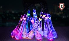 Groupon - Solar Raindrop String Fairy Lights from £5.99 (70% Off). Groupon deal price: £5.99