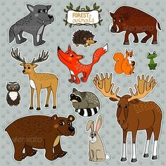 Vector Animals Owl Deer Fox  #GraphicRiver         Forest animals owl deer fox set vector illustration. Editable EPS and Render in JPG format     Created: 14November13 GraphicsFilesIncluded: JPGImage #VectorEPS Layered: No MinimumAdobeCSVersion: CS Tags: animals #bear #cartoon #character #childish #collection #cute #drawing #elk #forest #fox #frog #hedgehog #i004 #icon #moose #nature #north #owl #rabbit #raccoon #set #squirrel #sticker #stump #wild #wildboar #wolf #wood #zoo