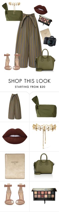 """""""Cuba"""" by audrianaj on Polyvore featuring Tome, Lime Crime, Erickson Beamon, FOSSIL, Givenchy, Gianvito Rossi, Anastasia Beverly Hills, Eos, Packandgo and cuba"""
