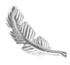 http://cheune.com/store *18 gauge Right Ear Feather Cartilage Earring Stud-Feather Barbell Cartilage Jewelry-Gifts for Women
