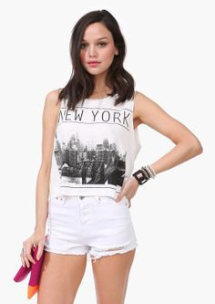 New York Muscle Tank white