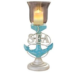 Nauticalthemed Anchor LED Candle Holder -- You can get more details by clicking on the image.