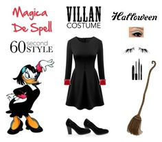 """Contest: Magica De Spell Outfit For @lollodis"" by billsacred ❤ liked on Polyvore featuring Guido Sgariglia, Rubie's Costume Co., UNEARTHED, Laura Geller, Japonesque, Halloween, 60secondstyle and villaincostume"