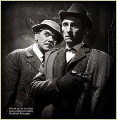 Peter Cushing as Sherlock Holmes in Hammer's The Hound of the Baskervilles (1959)