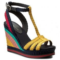 Sandály TOMMY HILFIGER - Vancouver 1S FW0FW00330 Old Gold/Midnight/Tango Red 901
